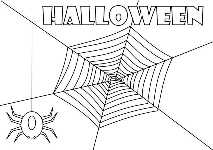 Coloriage toile d'araignée