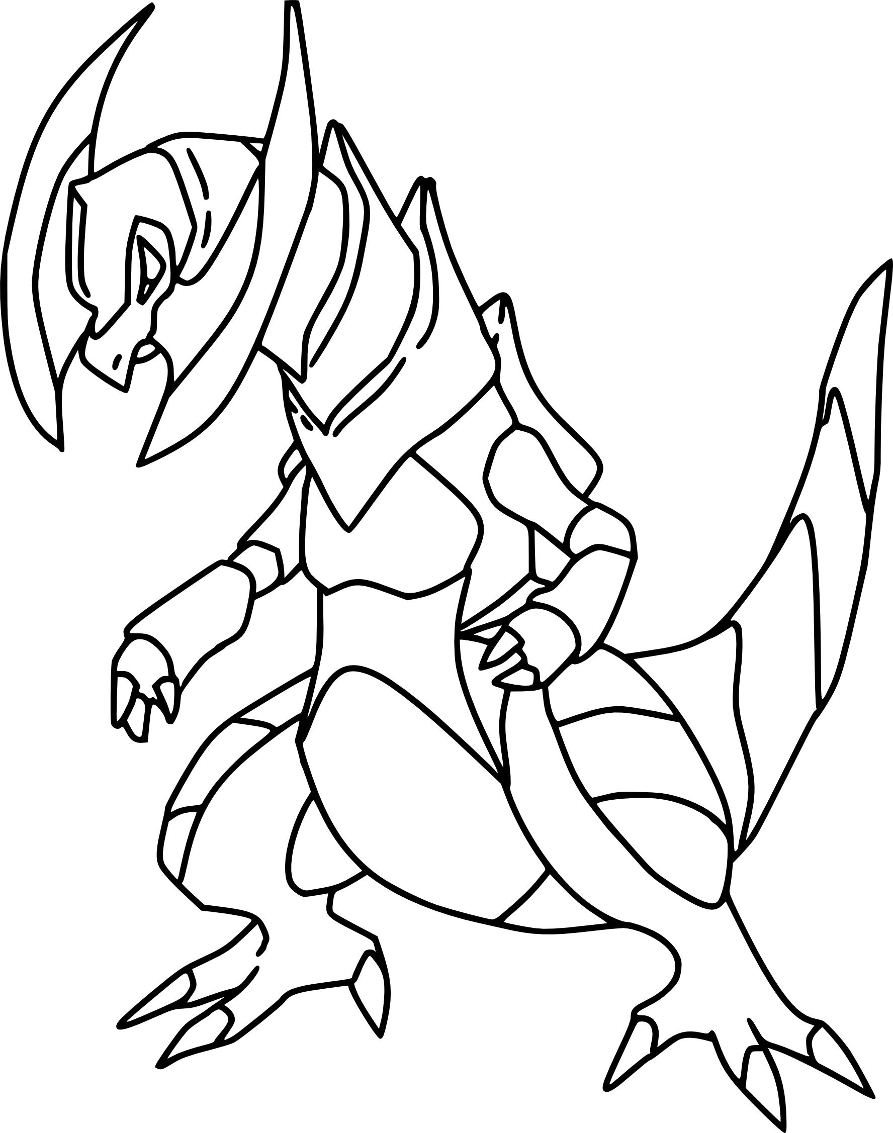 Tranchodon  Coloriage Pokemon Tranchodon à imprimer