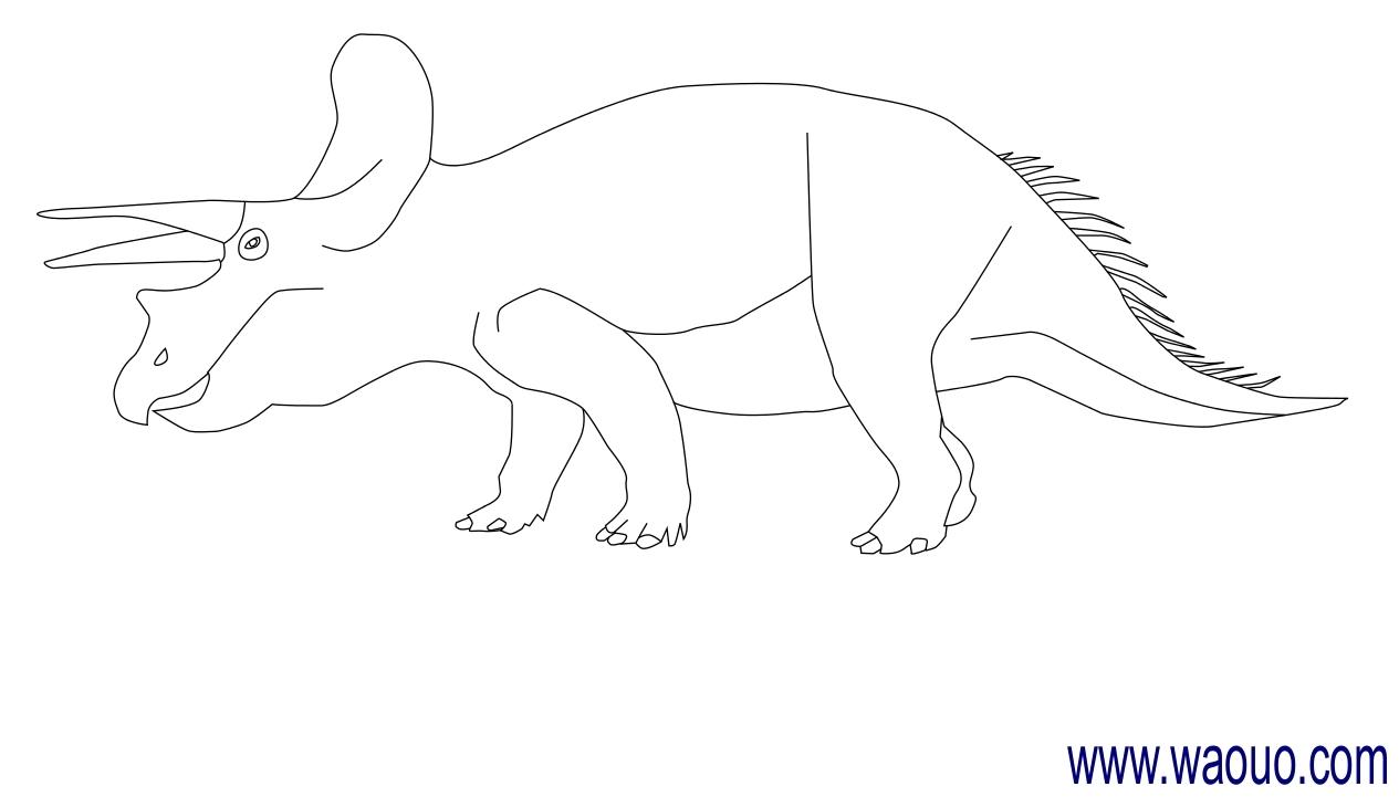 Coloriage Dinosaure Triceratops.Coloriage Dinosaure Triceratops A Imprimer Et Colorier