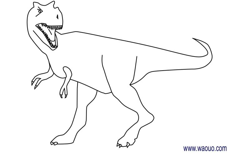 Coloriage dinosaure tyrannosaure imprimer et colorier - Coloriage a imprimer dinosaure ...