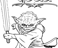 Coloriage Yoda