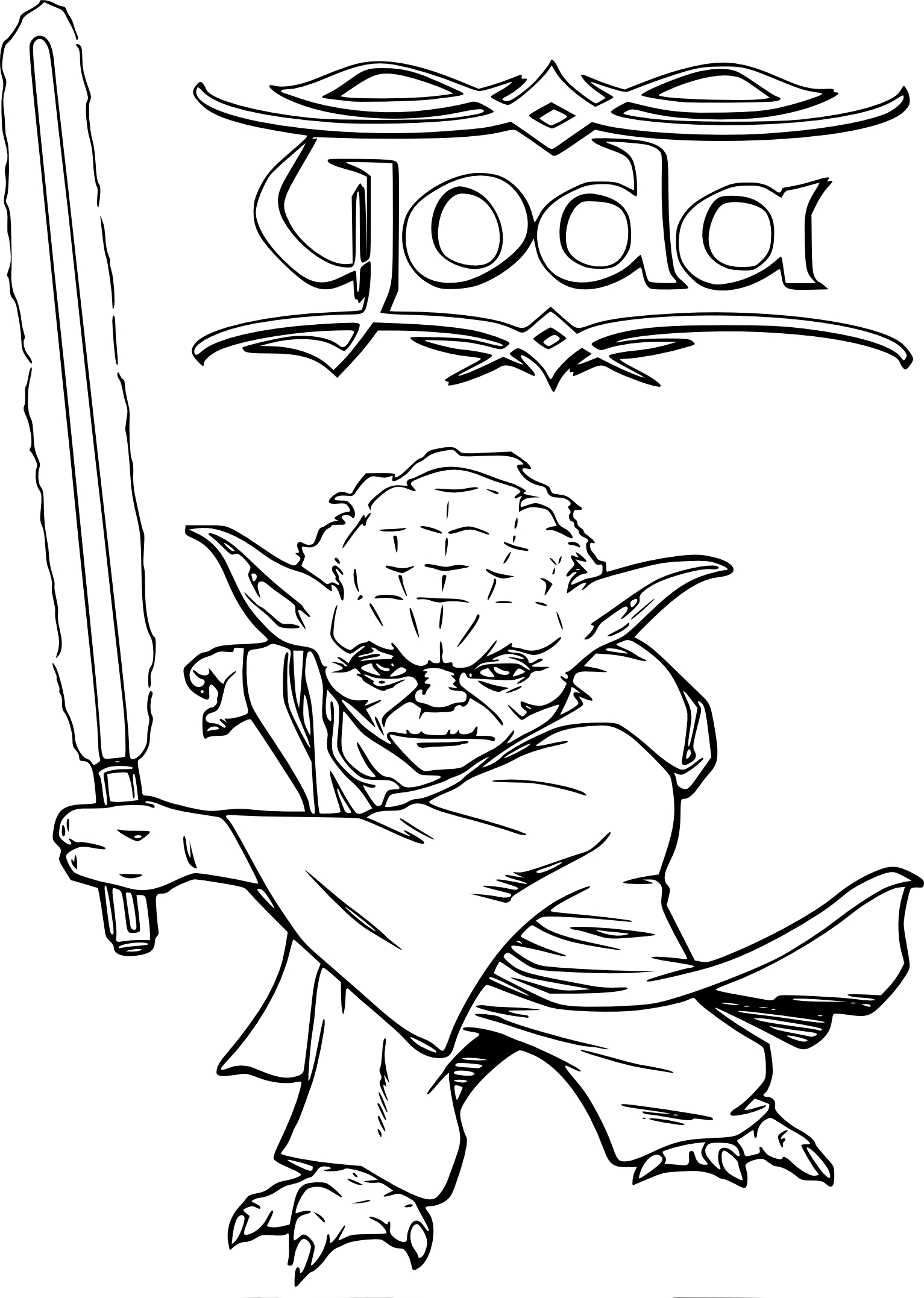 star wars yoda coloring pages sketch coloring page