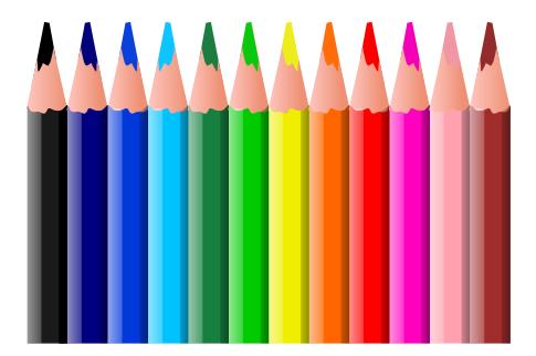 Crayons pour colorier dessins gratuits à imprimer
