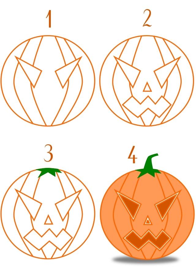 Dessine Ta Citrouille Pour Halloween