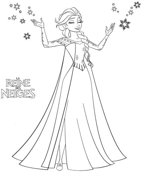 La Reine des neiges coloriage