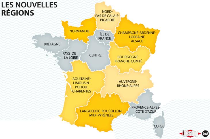 Nouvelles regions de France