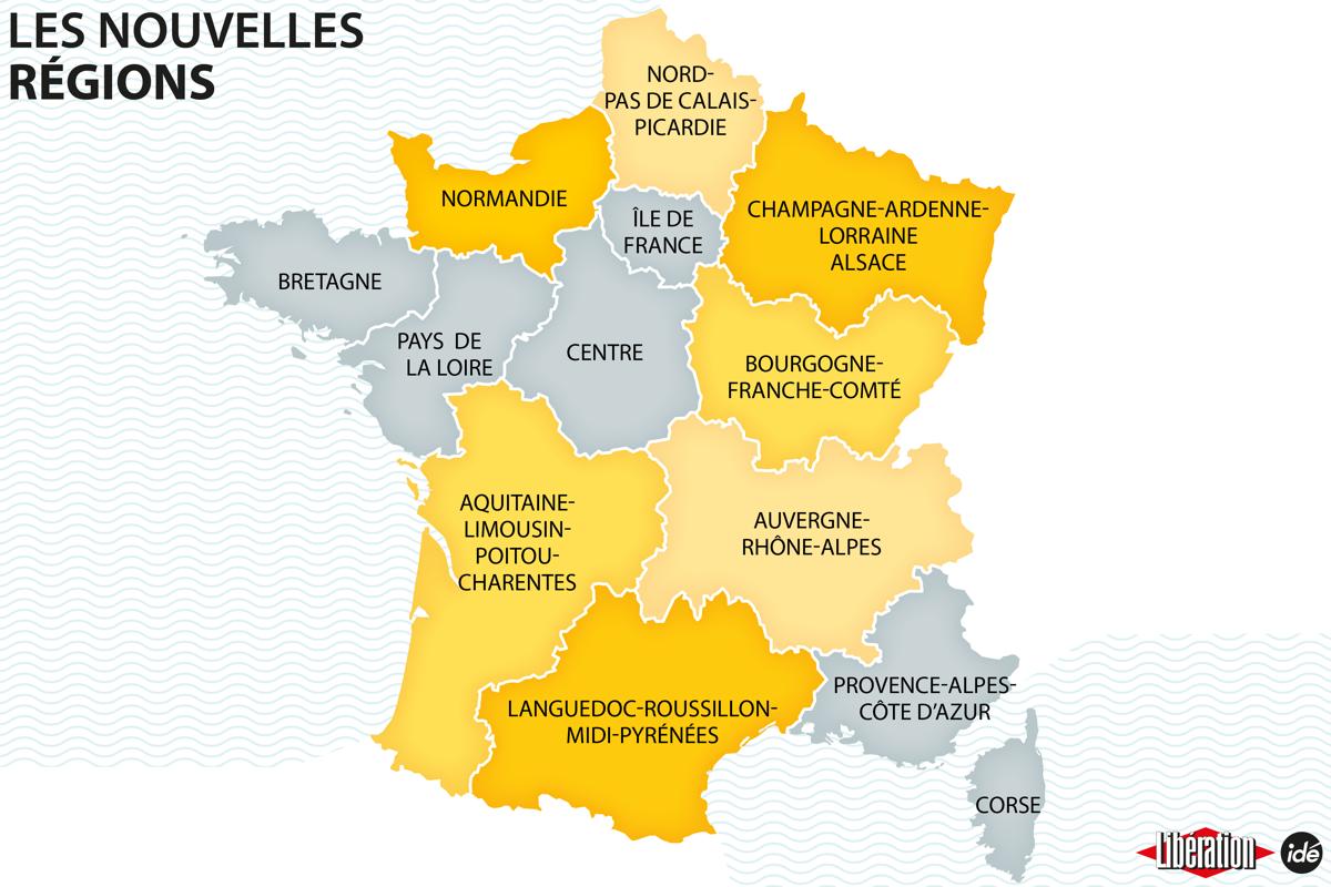 Carte Régions de France 2016 à compléter