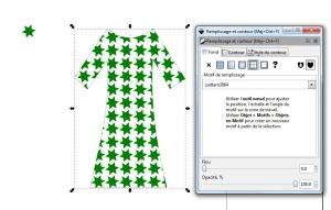 La robe avec le motif Inkscape