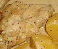 Blanc de poulet moutarde