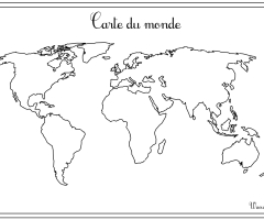 carte du monde a completer a imprimer my blog. Black Bedroom Furniture Sets. Home Design Ideas