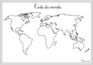 Carte du monde vierge