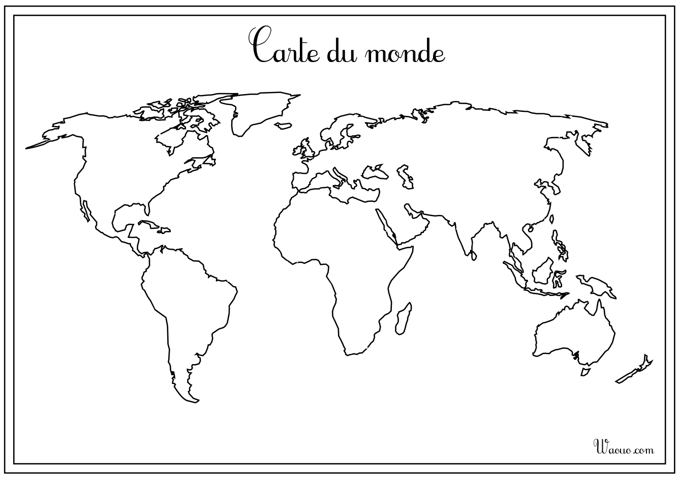 carte du monde vierge imprimer. Black Bedroom Furniture Sets. Home Design Ideas
