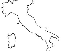Carte Italie vierge