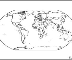 Carte monde Atlas