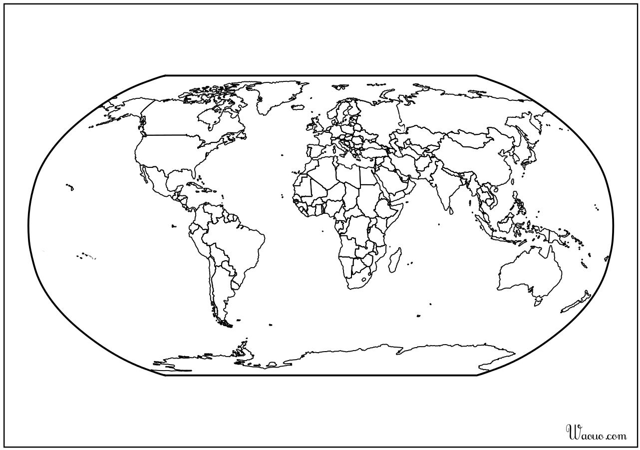 Carte Du Monde Vierge.Carte Du Monde Atlas Vierge A Imprimer