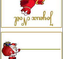 Carton de table Joyeux Noël