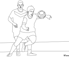 Coloriage 2 footballeurs