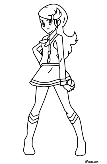 Coloriage Astrid Pokemon