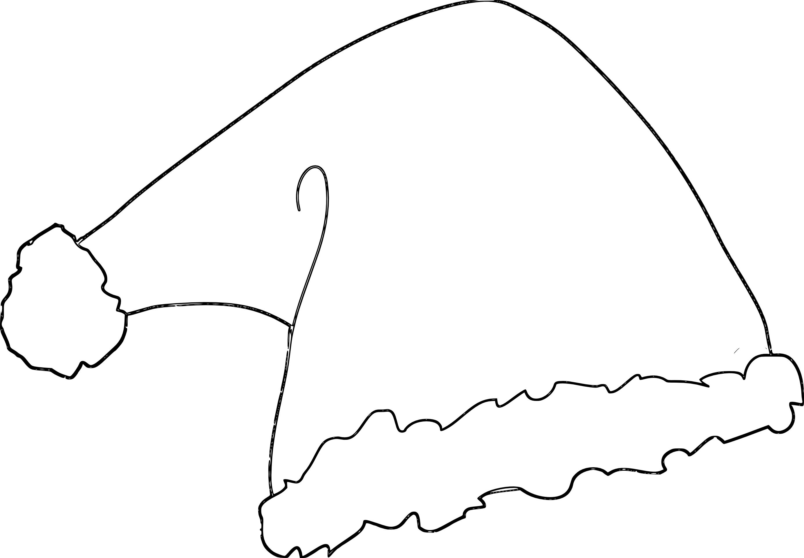 Coloriage bonnet p re no l imprimer et colorier - Dessin d un pere noel ...