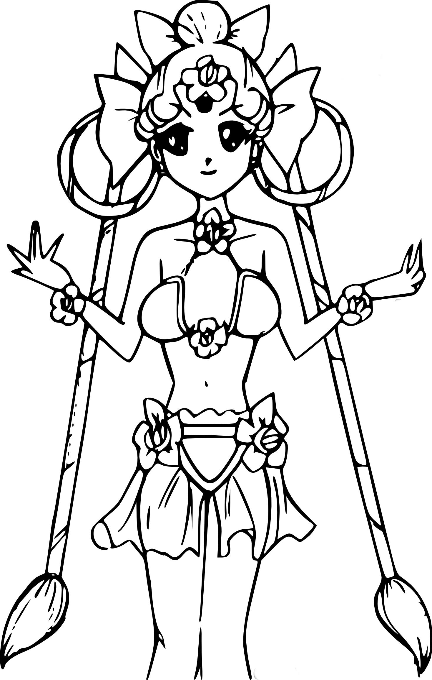 Coloriage CereCere SailorMoon  imprimer et colorier