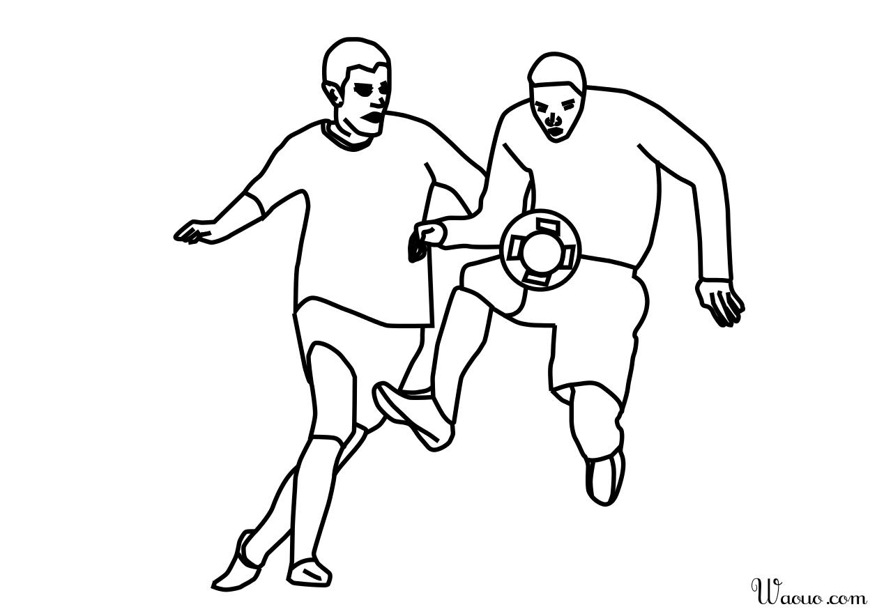 Coloriage contr le footballeur imprimer et colorier - Footballeur a colorier ...