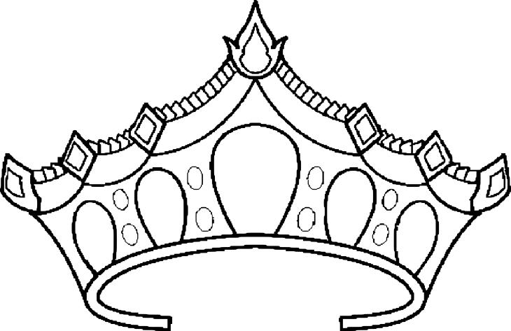 Coloriage couronne princesse imprimer et colorier - Prince et princesse dessin ...