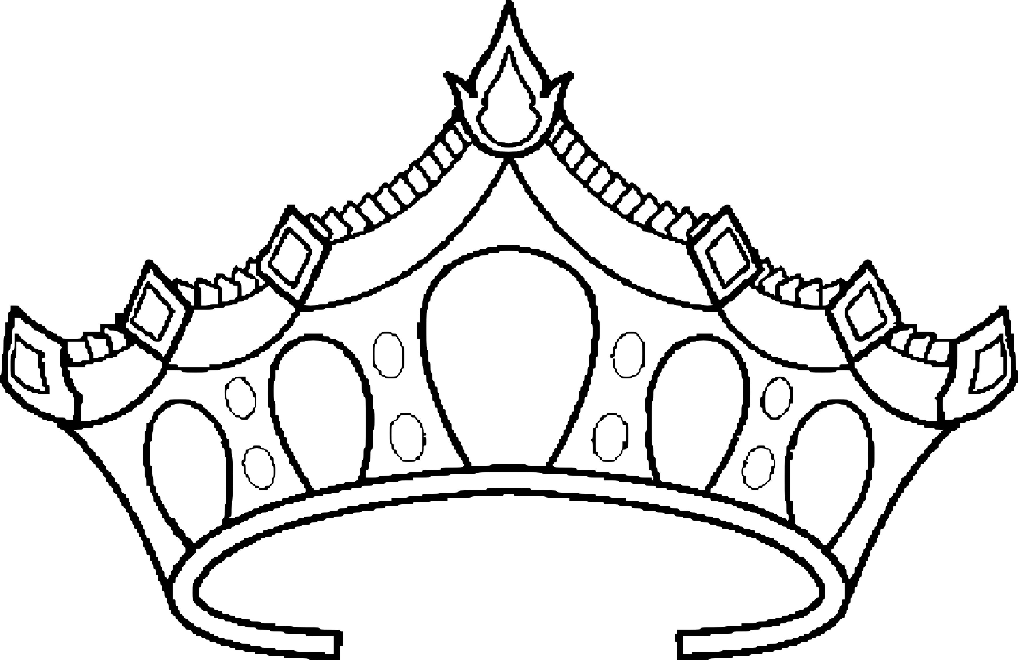 Coloriage couronne princesse à imprimer et colorier
