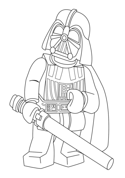 Coloriage dark vador star wars lego imprimer et colorier - Dark vador coloriage ...