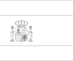 Coloriage drapeau Espagne