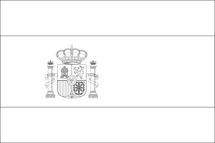 Coloriage drapeau espagne euro 2016 imprimer - Drapeau espagnol a colorier ...