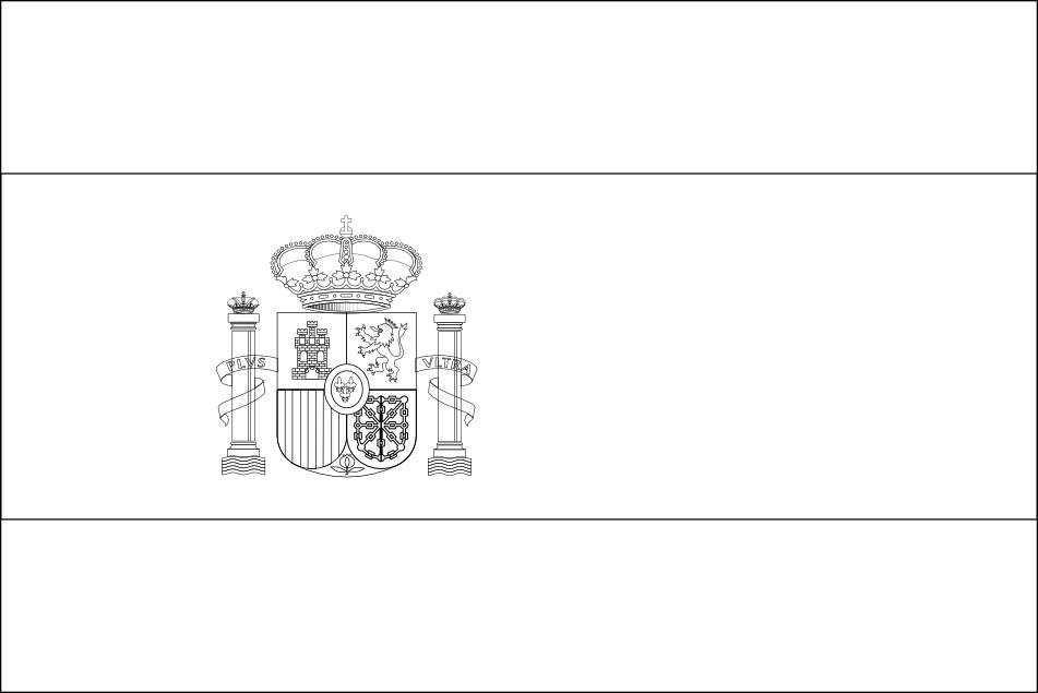 Coloriage Drapeau Espagne Euro 2016 à Imprimer