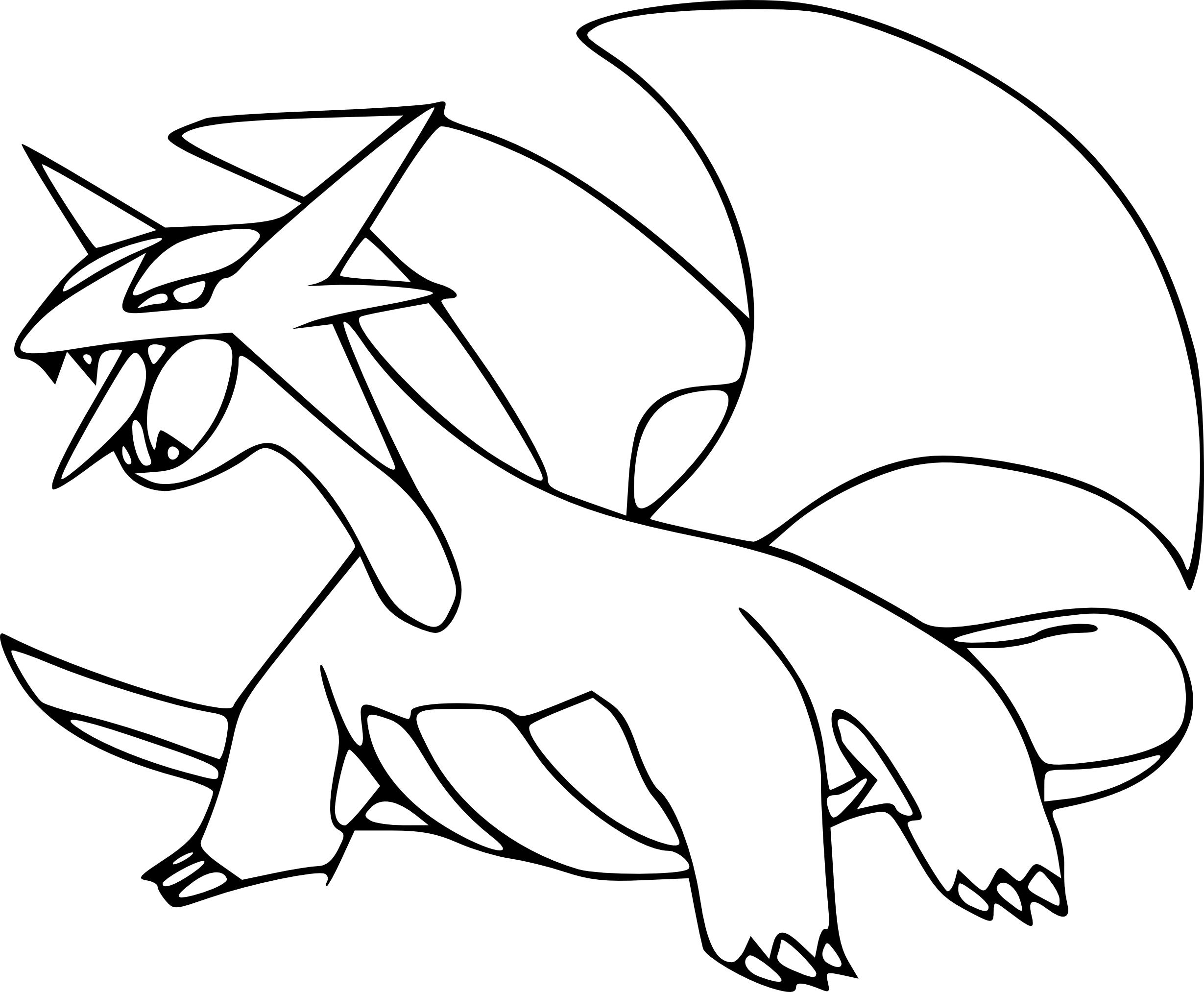 Coloriage Drattak Pokemon Dragon à imprimer et colorier