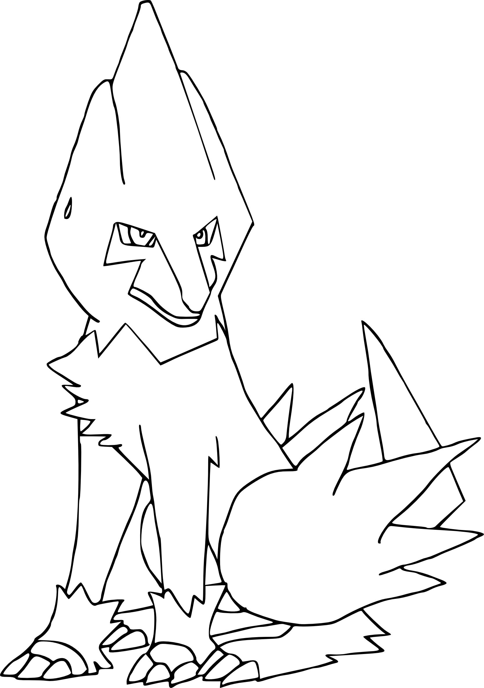 Coloriage Élecsprint Pokemon à imprimer et colorier
