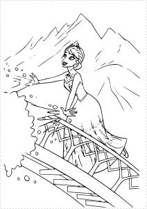 Coloriage Elsa pont palai