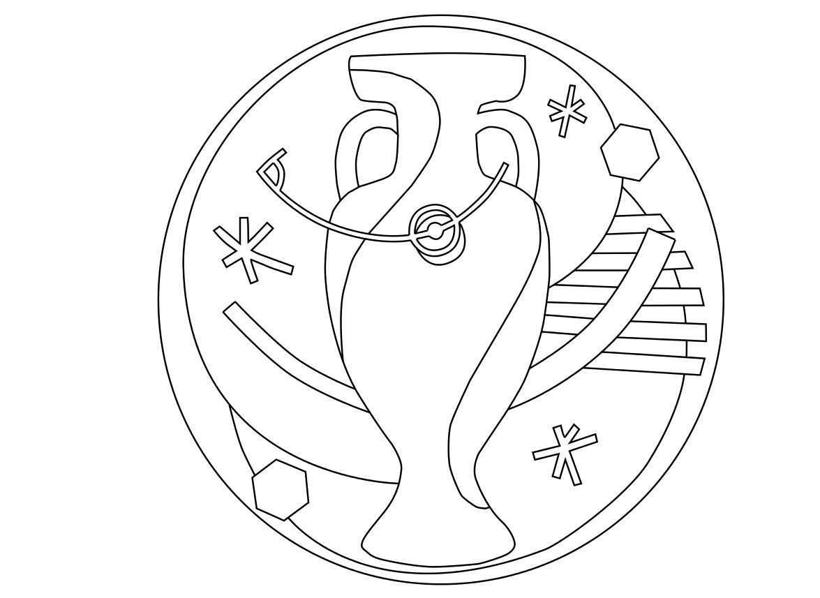 Coloriage Terrain De Foot.Coloriage Euro 2016 Football A Imprimer Et Colorier