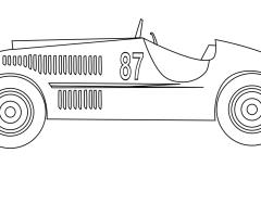 Coloriage Ferrari ancienne