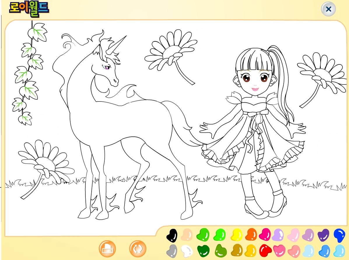 Jeu coloriage licorne gratuit en ligne - Licorne dessin ...
