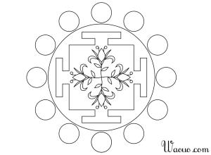 Coloriage fleur Mandala