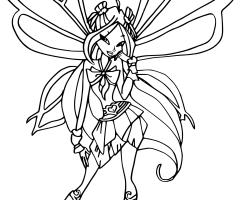 Coloriage Flora Sophix Winx