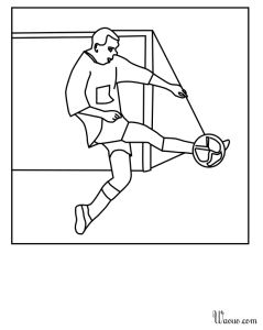 Coloriage foot defenseur