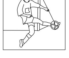 Coloriage foot defenseur
