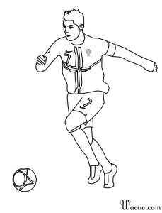 Coloriage foot Ronlado