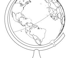 Coloriage globe ancien