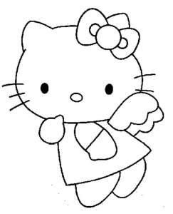 Coloriage Hello Kitty ange