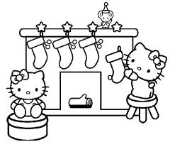 Coloriage Hello Kitty noel