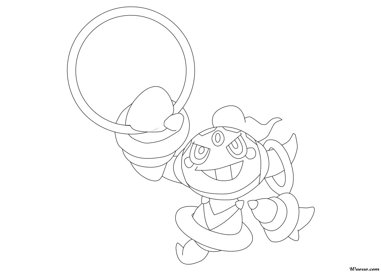 Coloriage hoopa pokemon l gendaire imprimer et colorier - Dessin pokemon legendaire a imprimer ...