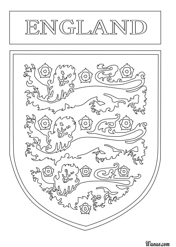 Coloriage Logo Angleterre Foot A Imprimer Et Colorier