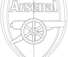 Coloriage logo Arsenal