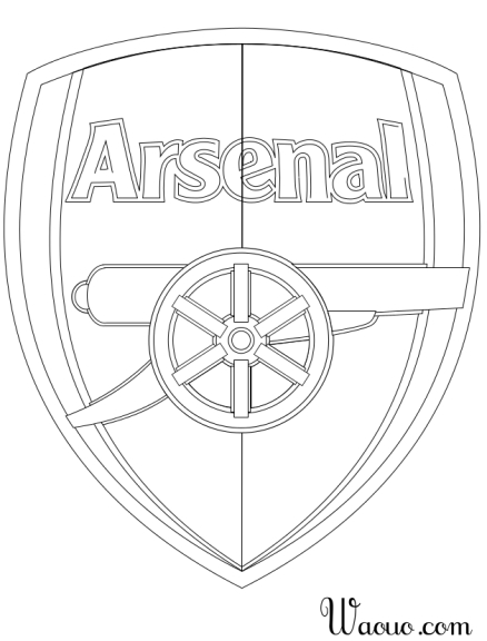 Coloriage logo Arsenal