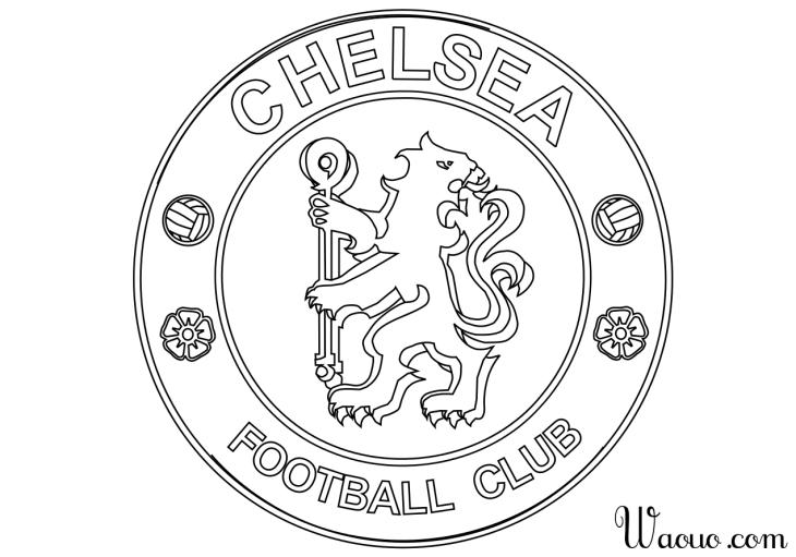 Coloriage logo chelsea football imprimer et colorier - Image de foot a imprimer ...